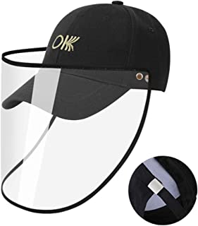 MINASAN Full Face Safty Eye Face Protector Cap Cover Hat with Shield Full Face Protective Cap Anti-Saliva Anti-Spitting Windproof Dustproof Anti-Fog