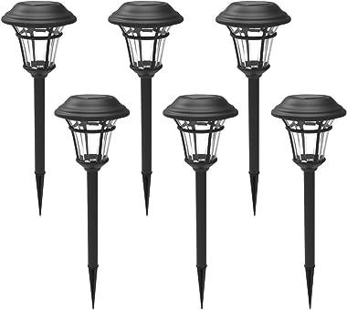 Maggift 6 Lumens Solar Garden Lights Solar Landscape Lights Solar Pathway Lights Outdoor for Lawn, Patio, Yard, Garden, Walkw