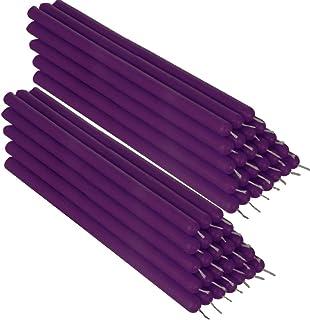 NKlaus 50x violett Bienenwachs 21cm rußfrei Tafelkerzen Handarbeit Ritualkerze Tropfkerzen 36336