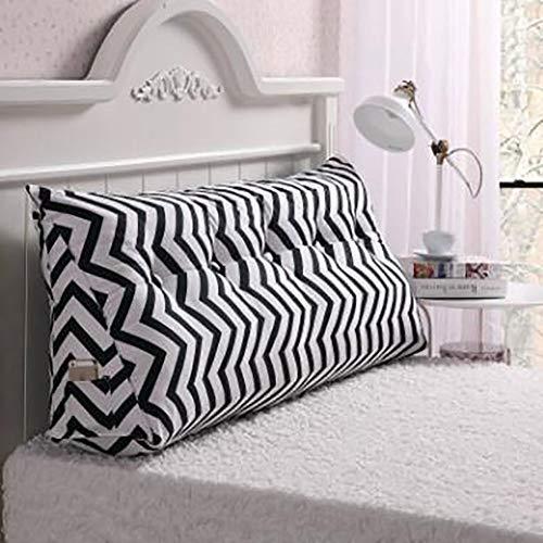 LYRYIH nachtkastje met driehoek kussen, wasbaar slaapkussen, rugleuning van de bank Tatami matten voor twee personen lang kussen