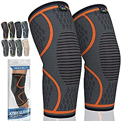 professional Knee compression cuff MODVEL 2 pack | Best knee brace | Knee brace for running, basketball and more.