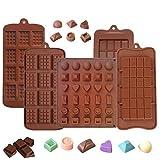 5PCS stampi cioccolatini, silicone per il cioccolato, antiaderente break-apart proteine ed energia bar, cubetti di ghiaccio Candy muffa cucina stampo da forno