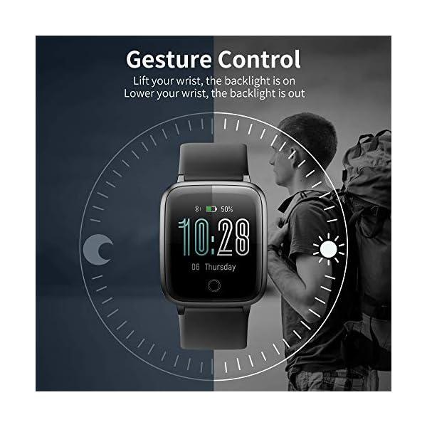 Smartwatch, Reloj Inteligente Impermeable IP68 con Monitor Sueño Pulsómetros Caloría Podómetro Operación con un Clic… 3