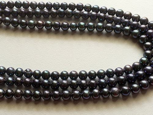 1 rang Natürliche Fresh Wasser rund Perlen, natur Perlen, Perle Halskette, 7 , 20,3  Strand