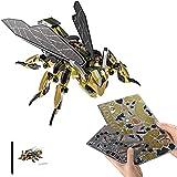 FXQIN Kits de Modelos de Metal 3D Puzzles Rompecabezas DIY Bumblebee de Acero Inoxidable Kit De Modelo de Metal para Montar Regalos de Decoración para Adultos Niños