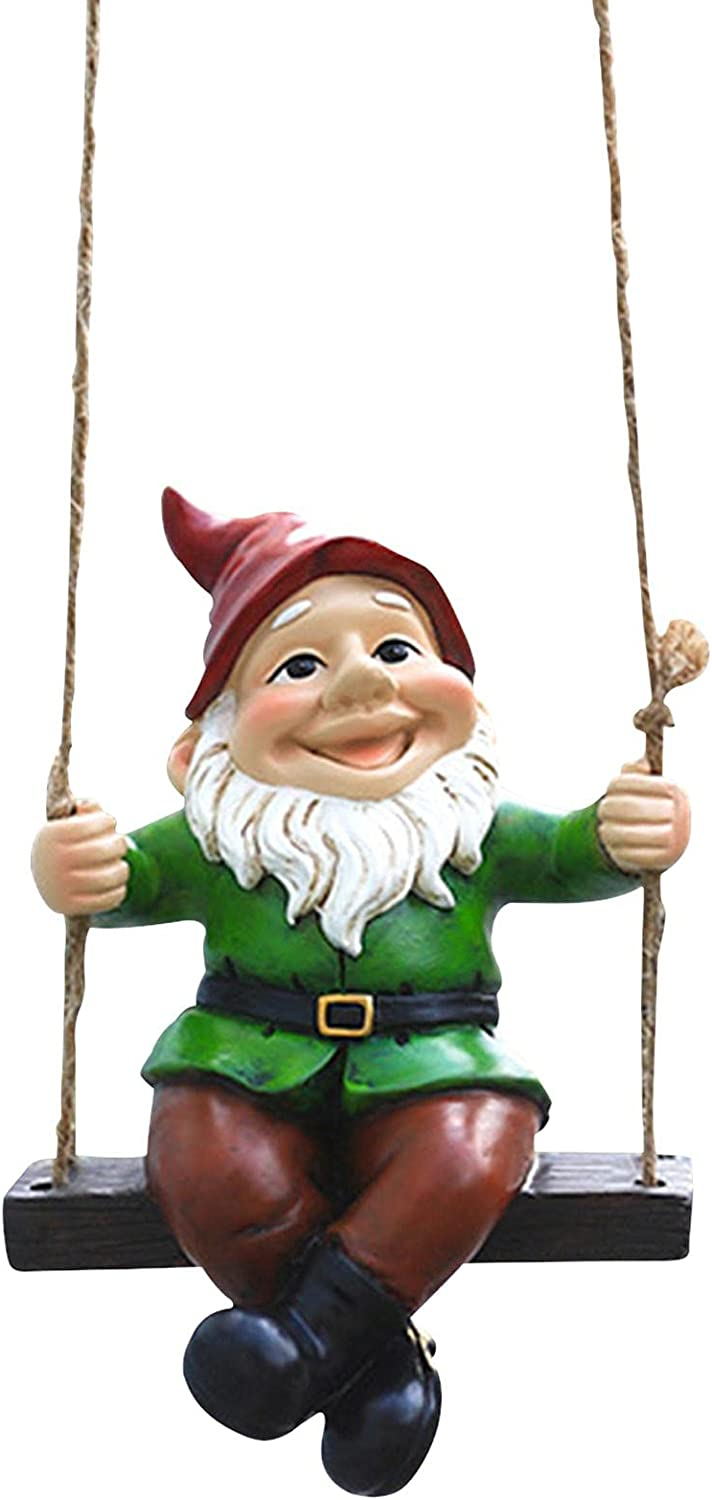 VAHIGCY Hanging depot Gnome Sitting Now free shipping on Garden Swing a D