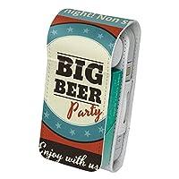 スマコレ IQOS専用 レザーケース 【従来型/新型 2.4PLUS 両対応】 専用 ケース カバー 合皮 カバー 収納 ユニーク ビール イラスト 赤 レッド レトロ 008609