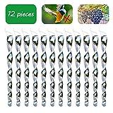 Spiritsun 12 Pièces Répulsif Oiseaux Effaroucheur Oiseaux Réfléchissant Spirale Lumineux en 360 Degrés, Répulsif Pigeons Anti Pigeon Anti Oiseaux Epouvantail a Jardin (Argenté)