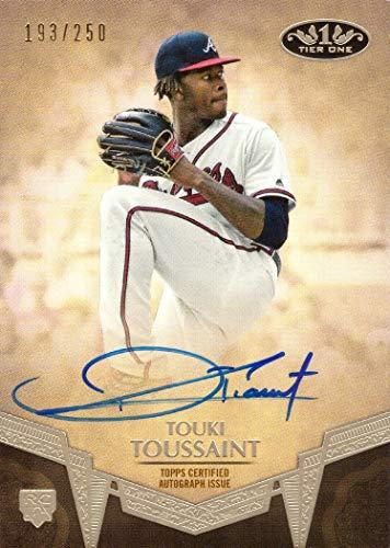 2019 Topps Tier One Baseball #BA-TT Touki Toussaint Certified Autograph Rookie Card - Only 250 made!
