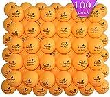 TADICK 100 Pack Orange 3-Star 40+ Ping Pong Ball Premium Table Tennis Balls