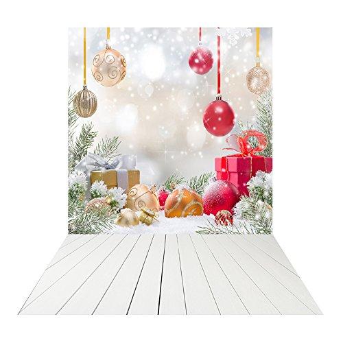 Muzi 150x250cm día de Navidad regalos de fondo para estudio de fotografía telón de fondo madera suelo telón de fondo niños fotografía telón de fondo fondo fotográfico de vinilo xt-4350