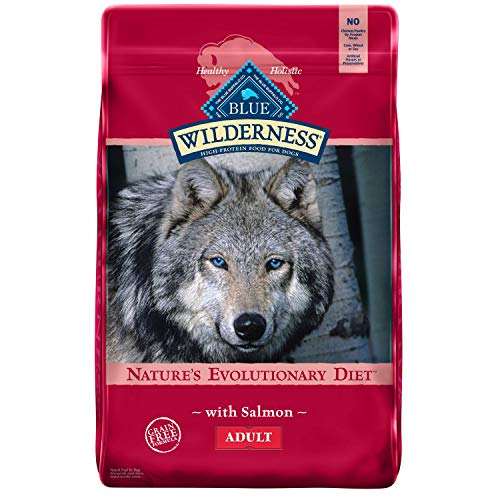 Blue Buffalo Wilderness High Protein Grain Free Natural Adult Dry Dog Food, Salmon 24-lb
