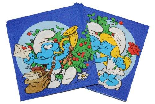 alles-meine.de GmbH 20 servilletas de papel para cumpleaños infantiles, diseño de Pitufos
