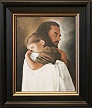 Artaccents Framed picture of Jesus holding little girl, Security by David Bowman