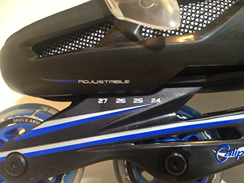 東方興産ワンタッチサイズ調整式インラインスケートCA9000Fブルー24cm~27cm