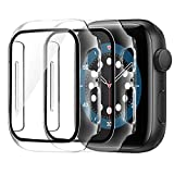 AsBellt Protector Pantalla para Apple Watch 44mm Series 6 5 4 SE (2 Piezas)Cristal Templado,Funda de iWatch 44mm Serie 6/5/4/SE Hermès, Nike+ Edition