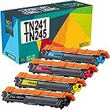 Do it Wiser Cartuchos de Tóner TN241BK TN245 Compatibles para usar en lugar de Brother DCP-9020CDW DCP-9015CDW DCP-9022CDW MFC-9330CDW MFC-9332CDW HL-3140CW HL-3150CDW HL-3170CDW (Pack de 4)