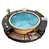 This stylish poly rattan hot tub surround is a versatile accessory for your spa. It gives the spa a chic and modern look, while creating a more functional and user-friendly spa area. It gives the spa a chic and modern look, while creating a more func...