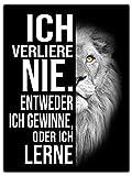 wandmotiv24 Leinwand-Bilder Löwen, Größe 80x60cm,