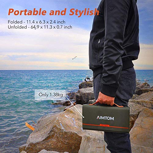 AIMTOM 155Wh Portable Power Station SPS-155 with 60W Folding Solar Panel ASP-60