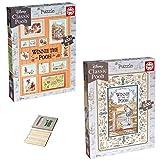 Winnie the Pooh Jigsaw Puzzles | 1000 Piece Poohsticks and Photoframes | Educa Borras 18255 18256