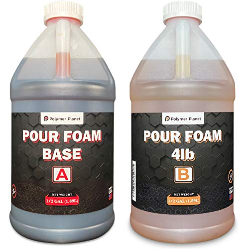 Polymer Planet Liquid Urethane 1 Gallon Kit - 4 Lb Density- 2 Part Closed Cell Rigid Pour Foam - Fast-Acting Formula - Great for Boat Buoyancy, Flotation, Filling, Soundproofing, & Insulation