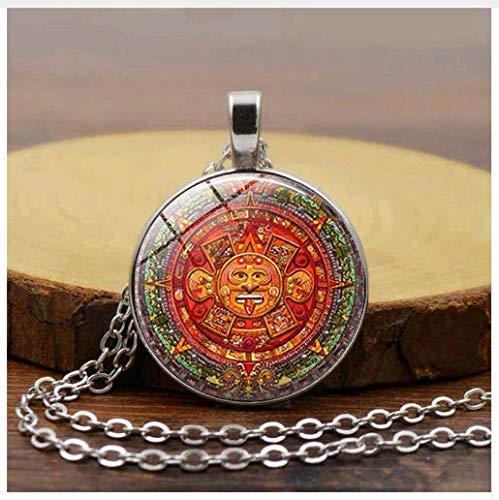 Sonnenkolovrat slawischer Anhänger, Sonnenrad-Halskette, okkultes Symbol Amulett Anhänger Schmuck
