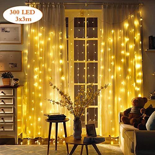 Tenda Luci Natale da Esterno Luci Stringa Led Catene Luminose Interno Per Natale Ornamento Luce Illuminazion Speciale Luci