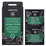 APIVITA Express Beauty Eye Mask with Ginkgo Biloba, Dark Circles & Signs of Fatigue Recovery 12 x 0.07 fl.oz. | Eye Masks to Remove Dark Circles