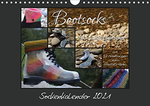 Sockenkalender Bootsocks 2021 (Wandkalender 2021 DIN A4 quer)