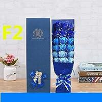 花人工ブーケベアソープバラの花のおもちゃ雑草の結婚式のためのバレンタインデーの装飾-With_Box_F2