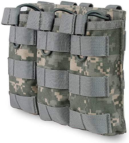RimFly Portacargador Triple para Pistolas de Airsoft Tactico HK G36 Molle Ipsc Funda de Cargadores Armas de Liberación Rápida M4 M16 AR-15 Enganche Universal Elástico Rail Picatinny