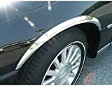 QAA fits 2003-2011 Lincoln Town Car 4 Piece Molded Stainless Steel Wheel Well Fender Trim Molding, 1.75' Width WZ43680
