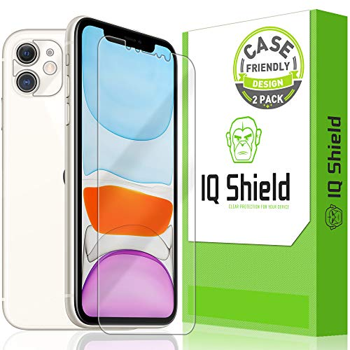 IQ Shield Screen Protector Compatible with Apple iPhone 11 (6.1 inch)(2-Pack)(Case Friendly + Camera Lens) LiquidSkin Anti-Bubble Clear Film
