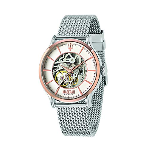 MASERATI R8823118004 - Reloj automático analógico para hombre con brazalete de acero inoxidable