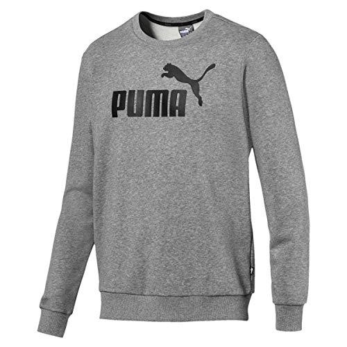 PUMA Herren Sweatshirt - ESS Crew Sweat, großes Cat Logo (Grau (Medium Gray Heather), 4XL)