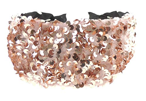 Glamour Girlz - Cerchietto da donna, con paillettes, per serate, extra largo, per Alice (rosa)