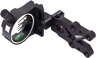 Kasfam Tiro con Arco Caza Tiro con Visera de 5 Pines para Tiro con Arco Caza Tiro mira Fibra Pin con luz