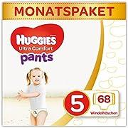 Huggies Windeln Ultra Comfort Pants Monatsbox, Größe 5, 68 Stück