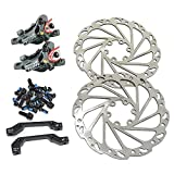 JUIN TECH R1 Hydraulic Road CX Disc Brake Set 160mm with Rotor, Front and Rear, Gray, JT1905