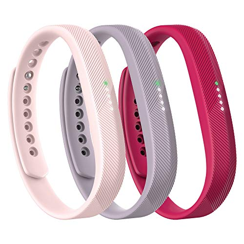 Fitbit Flex 2 Accessory 3 Piece Pack, Pink, Small, 0.12 Pound
