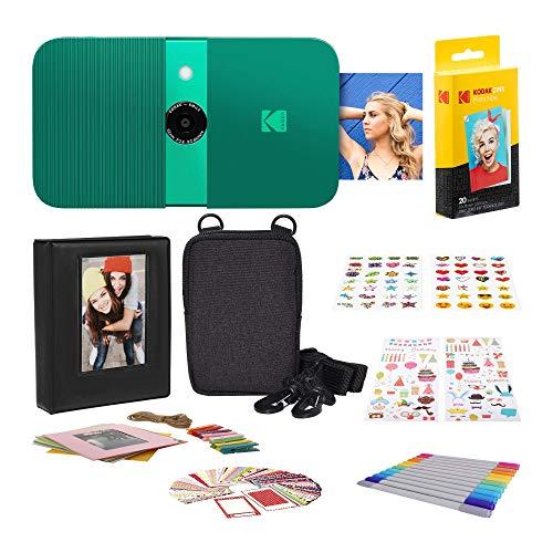 KODAK Smile Cámara Digital de impresión instantánea + Zink Conjuntos de Adhesivos...