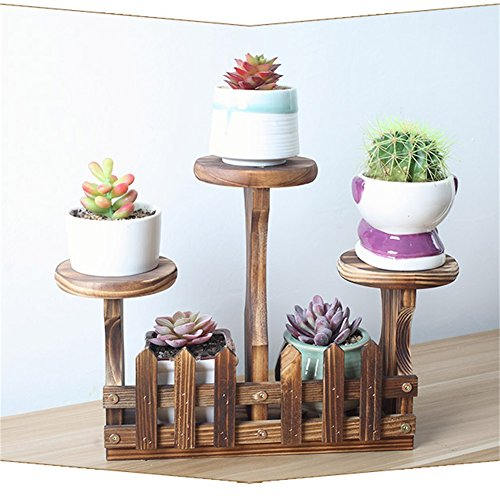 HUA RACKS Pflanze Desktop Blumenständer Mini Büro Blumentopf Rack Massivholz Sukkulenten Indoor Und Outdoor Wohnzimmer Balkon Zubehör