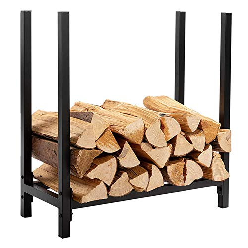 JHDUID Firewood Rack Log Holder Log Rack, Indoor/Outdoor Fire Wood Storage Wood Storage Holder Heavy Duty Steel Wood Stacking Holder for Indoor Outdoor Fireplace Tool