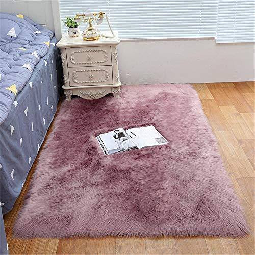 RUGMYW No Alérgico Alfombra Exterior Peluche Rosa Plus Alfombra Dormitorio Infantil Alfombra Deporte Antideslizante 80X180cm