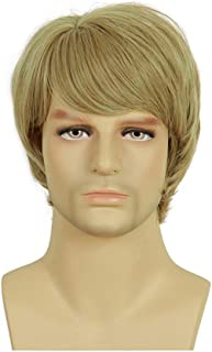 Blonde Wigs for Men Heat ResistantSynthetic Wig for Cosplay Helloween,Costume,Daily