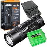 Fenix FD45 900 Lumen zoomable LED Flashlight with EdisonBright BBX4 battery carry case bundle
