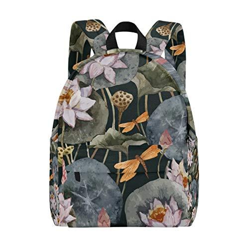 Retro-Loto-Loto-Libellenmuster Schulrucksäcke Buchtasche Teenager- Studenten Mädchen Frauen College Rucksack Bookbag Fashion Reise Daypack
