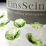 EinsSein 100x Funkelnde Diamantkristalle 12mm hellgrün - 2