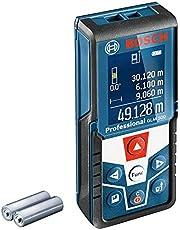 Bosch Professional Laserafstandsmeter Glm 500 (Werkbereik: 0,05–50 m, Hellingbereik: 0 – 360°, Meetnauwkeurigheid: +/-1,5 mm, 2x Batterij AAA, In Kartonnen Doos), Blauw